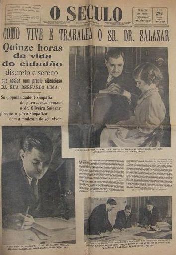«O Século», 21/6/1938 (?), in «Salazar. O Obreiro da Pátria»